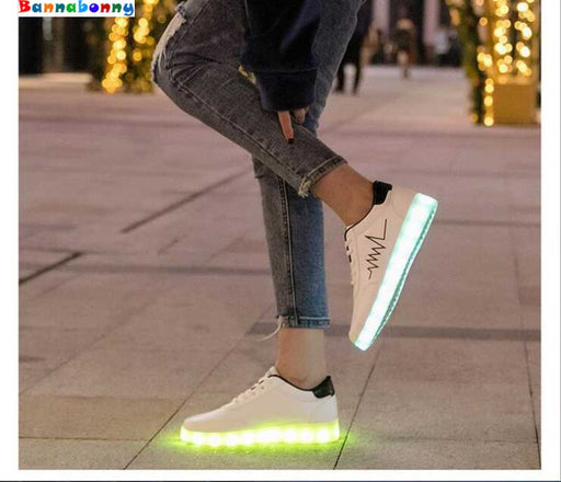 Child Luminous LED Light Casual Shoes | Unisex Cool Sneakers With USB Recharging