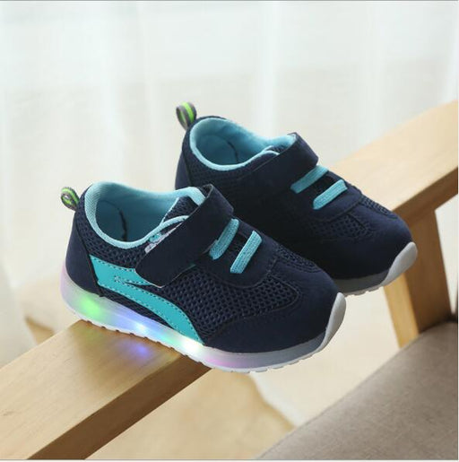 Mesh Based Breathable LED Light Shoes | Boys Sneakers