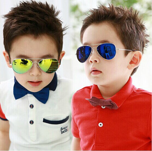 DRESSUUP Fashion Baby Boys Kids Sunglasses Piolt Style Brand Design Children Sun Glasses 100%UV Protection Oculos De Sol Gafas - KiddyLanes