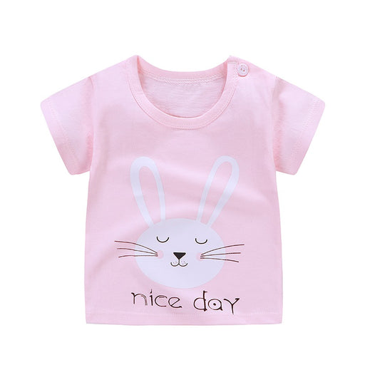 Baby Boys Girls T-Shirt 2019 Casual Fashion Summer Toddler Cotton Style Short Sleeve O-Neck Print T-Shirts For 6M -7 Years Old