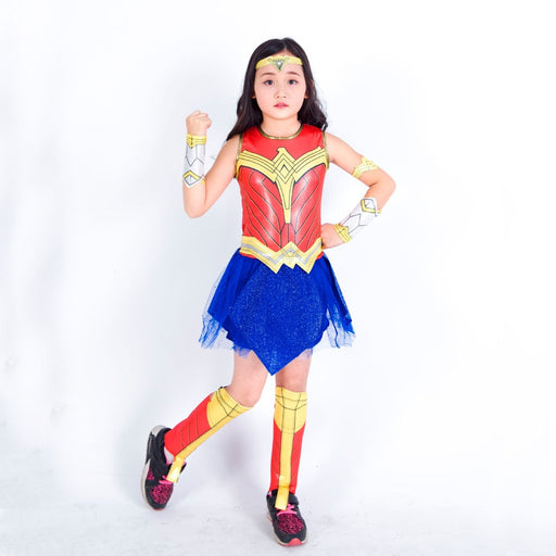 Girl Kids Wonder Woman Costume Dawn Of Justice With Headband Cosplay Costume