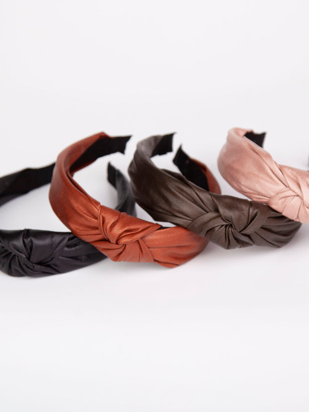 Knotted headband | Vegan leather