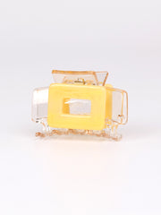 Clear claw hair clip - Square