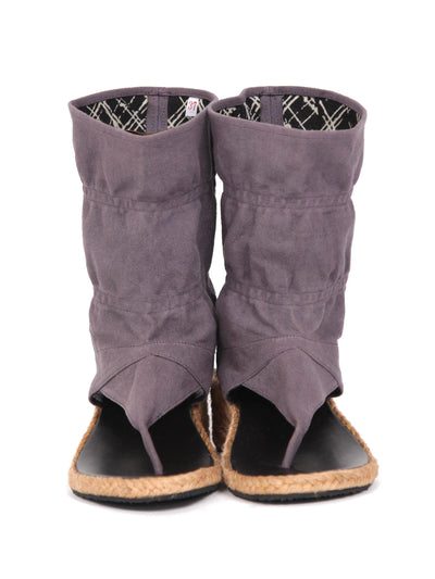 Wedge bootie sandals | Grey purple