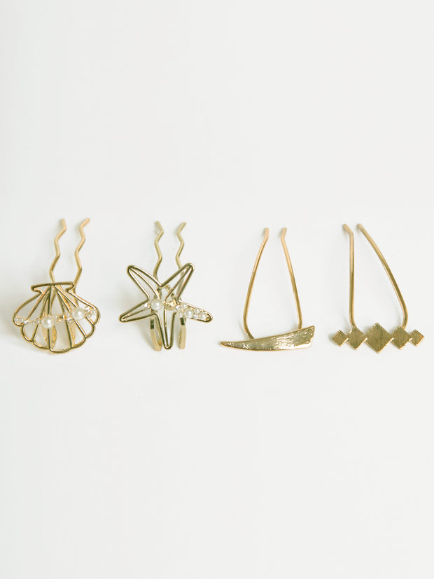 Hair pin | Gold