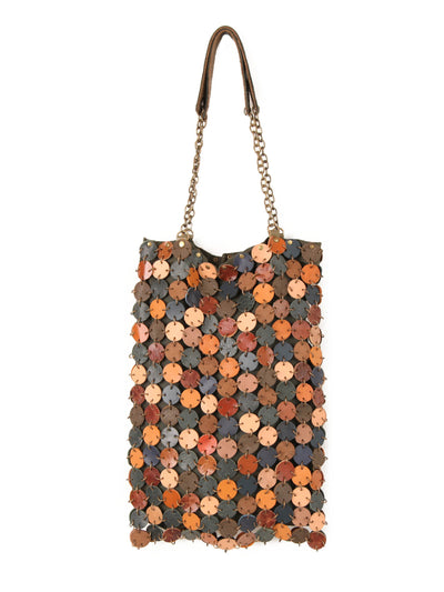 70's dot leather bag | Mix and much