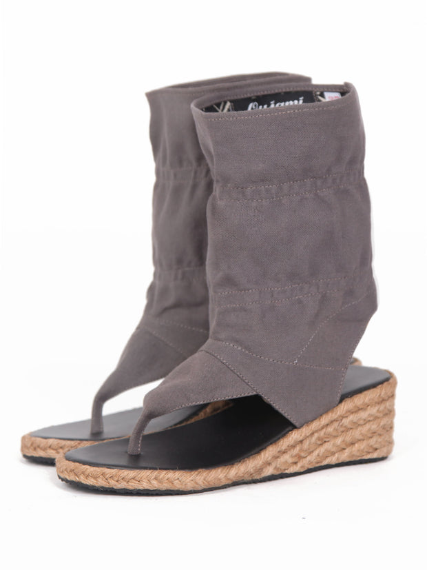 Wedge bootie sandals | Grey