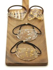 Hair ties -Gold Siver Foil