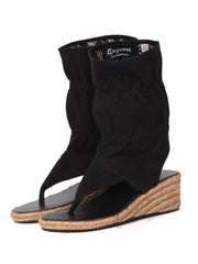 Wedge bootie sandals | Black