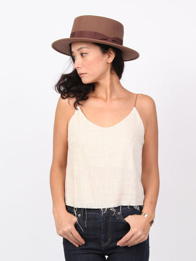 Amie V neck camisole | Linen