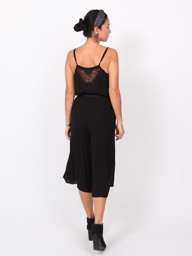Mary | Crocheted lace back midi jumpsuits