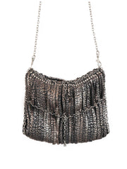 Sleeky funky shoulder & Clutch bag | Silver