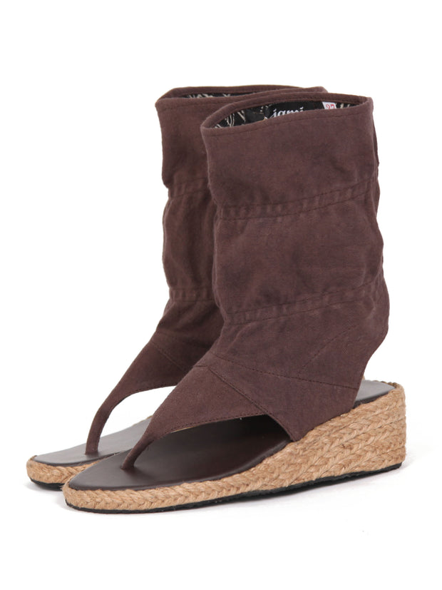 Wedge bootie sandals | Brown