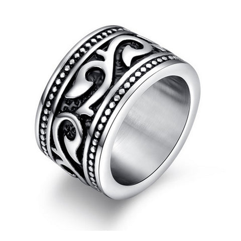 Titanium Stainless Steel Retro Style Ring
