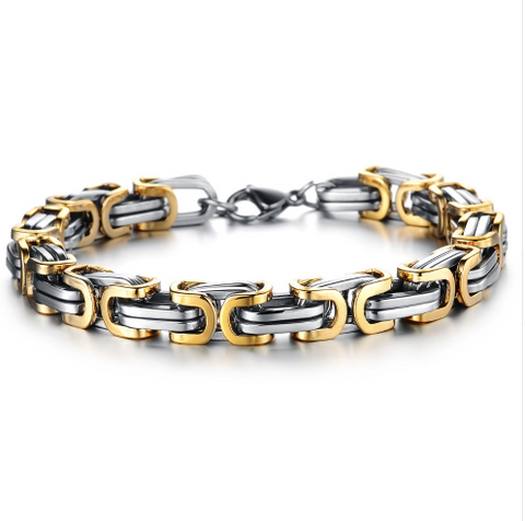 Garada Stainless Steel Bike Link Chain Bracelet