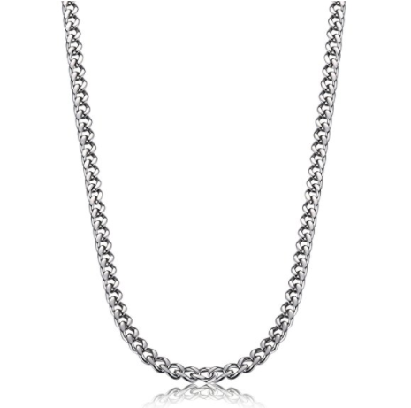 Stainless Steel  Necklace Curb Link Chain