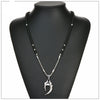 Silver Stainless Steel Vikings Wolf Teeth Pendant Necklaces