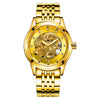 LANGLEY 2018  Watches Men Luxury Business- 3D  Dragon Gold Skeleton