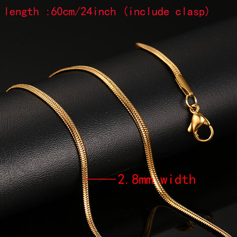 "Men's 24"" Gold-Tone Stainless Steel Chain Necklaces"