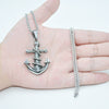 Men's Titanium Anchor Pendant Necklace