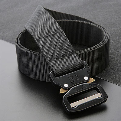 Men's Canvas Belt Metal Insert Buckle Military