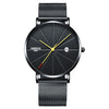 Sakun- Water-resistant Ultra Thin Watch with Genuine Leather Straps