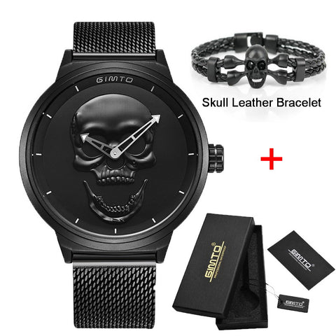 3D Skull Watch Gift with Skull Bracelet (Optional)