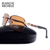 Blanche Michelle Rectangle Polarized Sunglasses Men