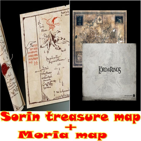 Hot Sale High quality Hobbit Poster Maps Middle-earth map Sauron treasure map Lord of the Rings  map Wholesale Free Shipping