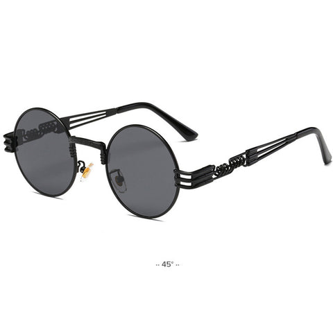 Lennon - Gold Metal Fashion John Lennon Round Sunglasses