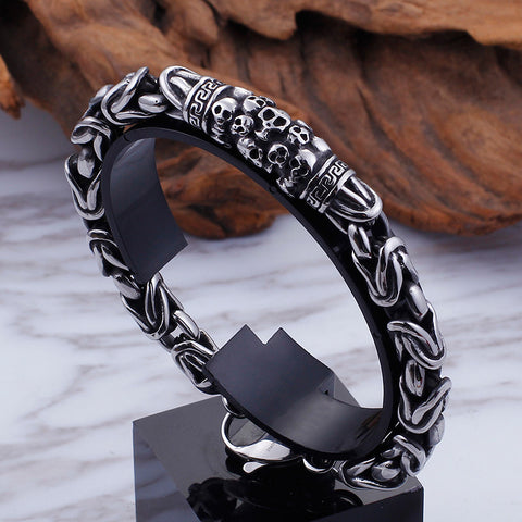 Punk Retro Skeleton Chain Bracelet