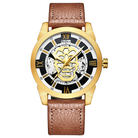 BIDENA- Skull Dial Mens Watches Top Brand