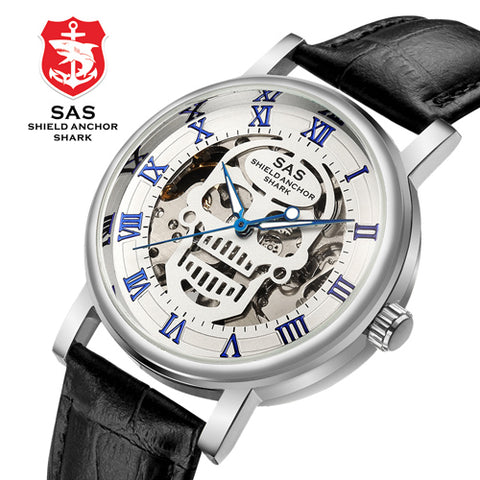 Odyss  - Skull Skeleton Mechanical Leather Strap