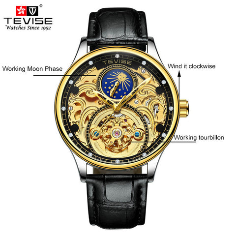 TENMA -  Luxury Tourbillon Automatic Mechanical Watches Men