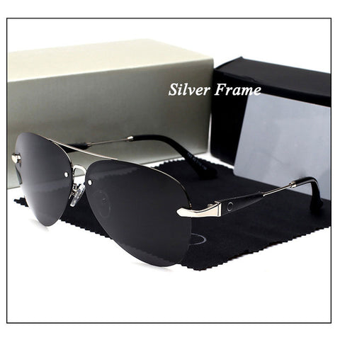 Poland- Men Vintage Aluminum HD Polarized Sunglasses