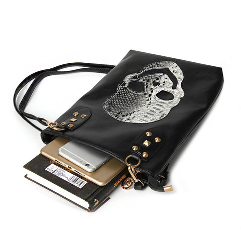 THENDO - Ladies Trendy Women Skull Messenger Handbag