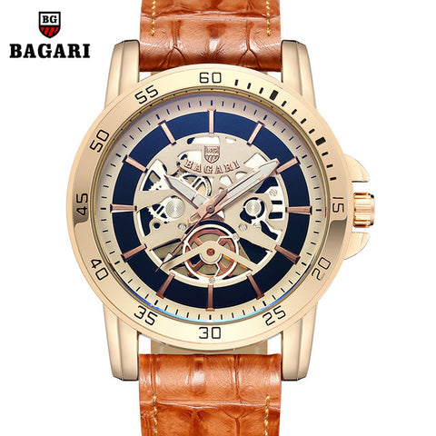 BAGARI -  wristwatches genuine leather quartz