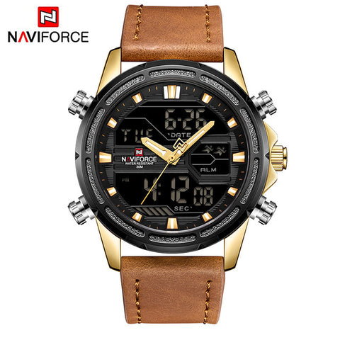 NAVI -   Leather Sport Wrist Watch Men
