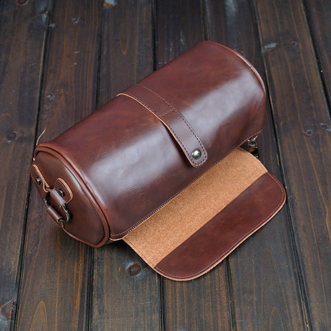 LAVACHEN new retro crazy leather men bag