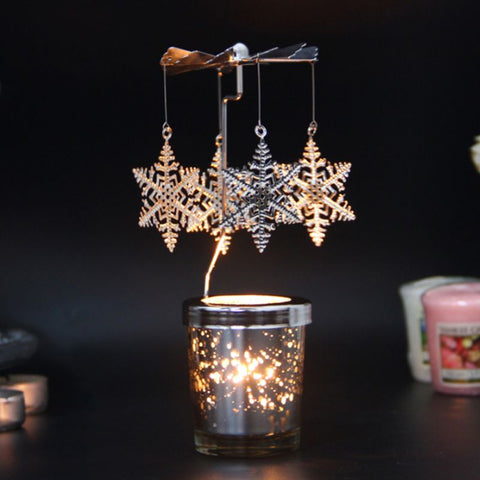 Rotary Spinning Tealight Candle Metal Tea Light