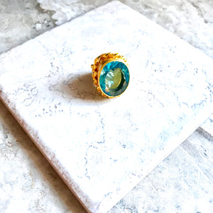 Clear Aquamarine Ring