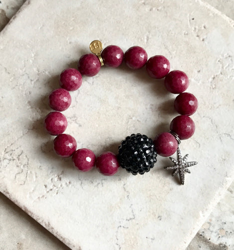 Cranberry Faceted Agate Stone
