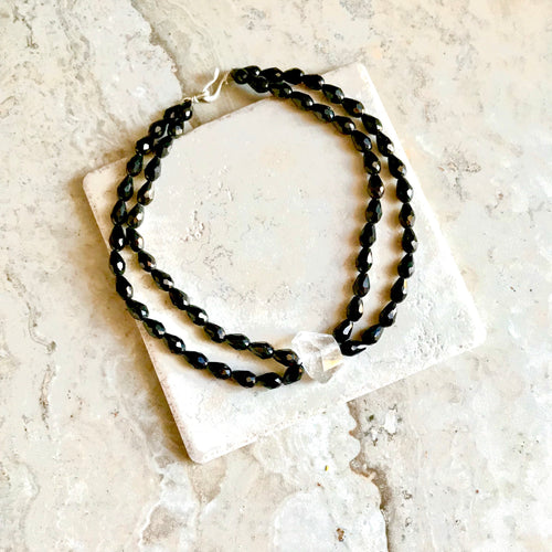 Midnight Blue Double Strand Herkimer
