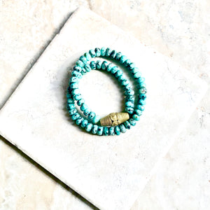 Faceted Turquoise Jasper