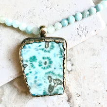 Faceted Aquamarine with Jasper Pendant