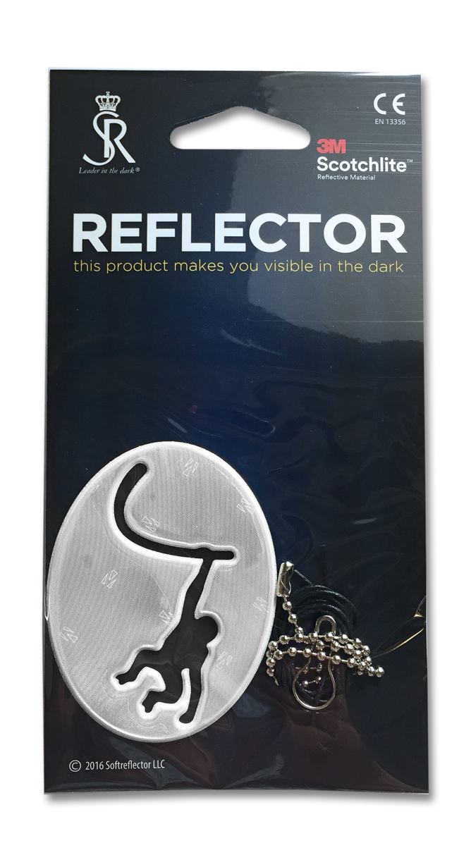 Soft Reflector Pendant - Funny Monkey - Dark Aid