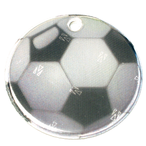 Soft Reflector Pendant - Football - Dark Aid