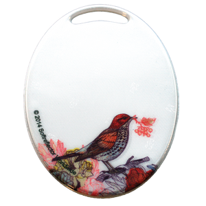 Soft Reflector Pendant - Song Thrush - Dark Aid