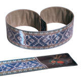 Reflective Slap Wrap - Pattern Belt Blue