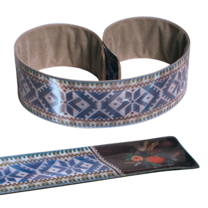 Reflective Slap Wrap - Pattern Belt Blue - Dark Aid
